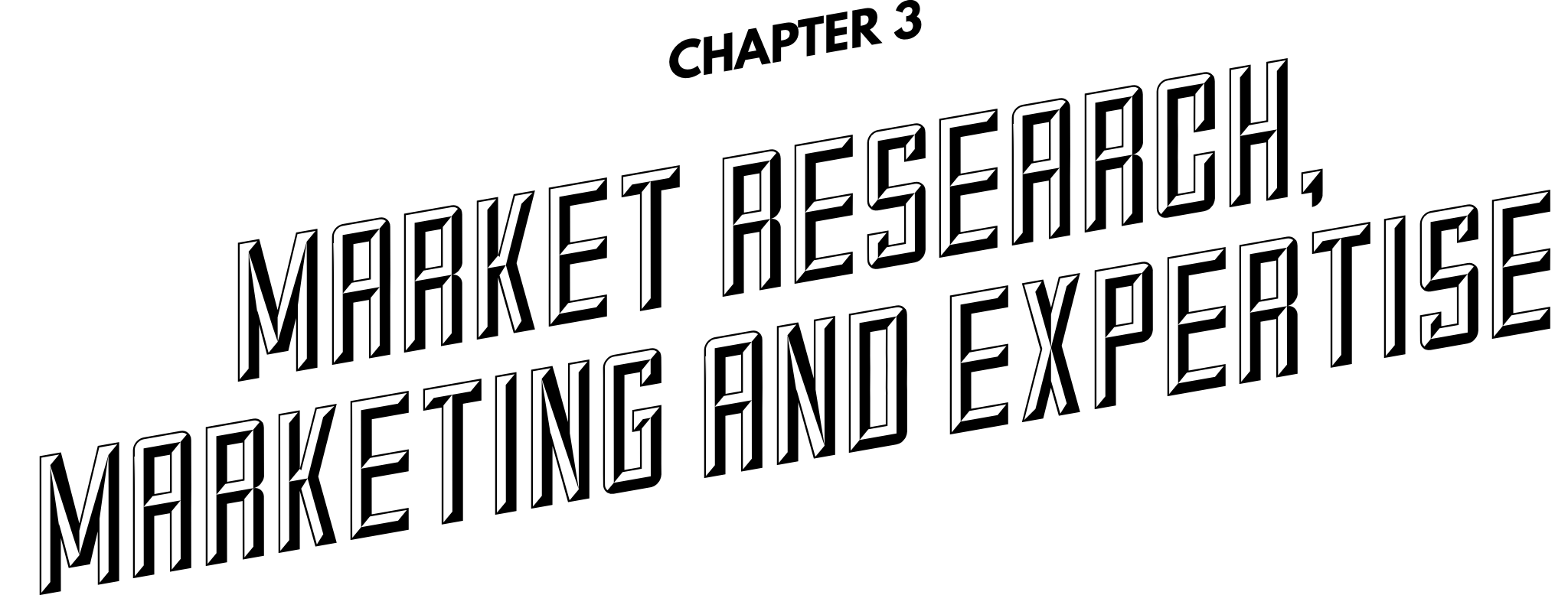 Chapter 3: Market research, marketing and expertise