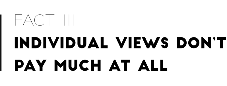 Fact 3: Individual Views Don't Pay Much At All