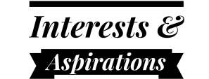 Interests and aspirations header