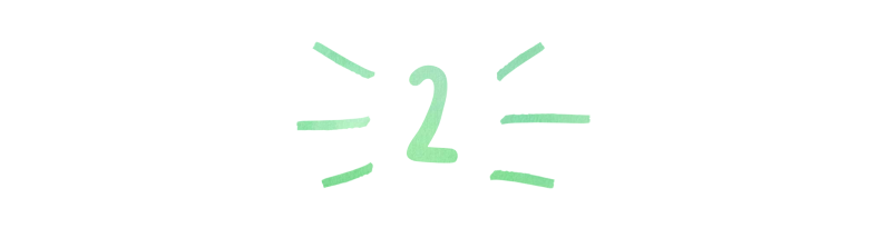 A header in a handwritten font that reads '2`'