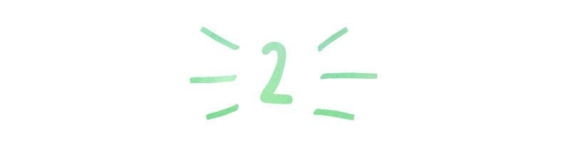 A header in a handwritten font that reads '2`'