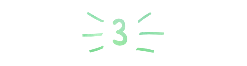 A header in a handwritten font that reads '3'
