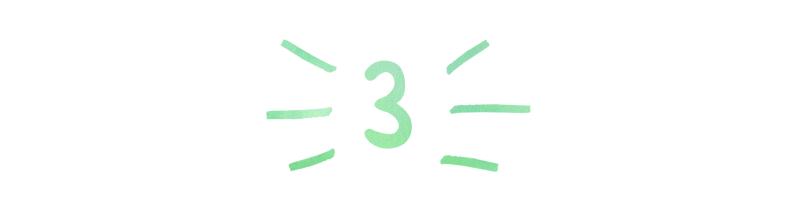 A header in a handwritten font that reads '3'
