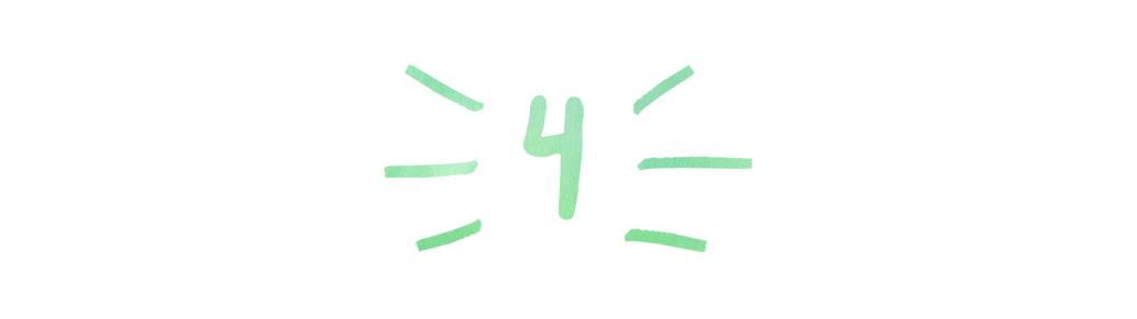 A header in a handwritten font that reads '4'