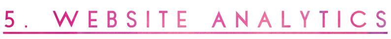A typographic header which reads '5. Website Analytics'